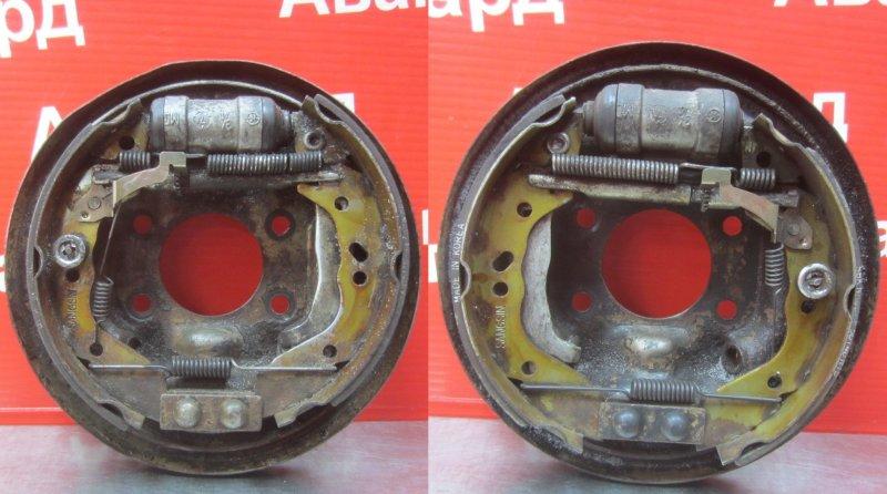 Тормозной щит Hyundai Accent G4EC 2007 задний