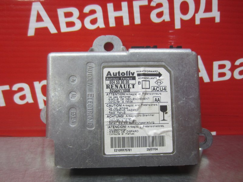 Электронный блок airbag Renault Megane 2 K4J 2004