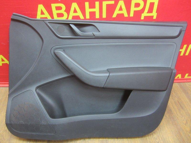 Обшивка двери Skoda Rapid 2014 передняя правая