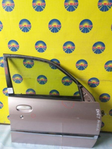 Дверь боковая Toyota Duet M100A 1998 передняя правая