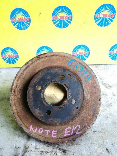 Диск тормозной Nissan Note E12 HR15DE передний