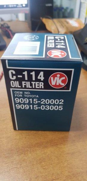 Фильтр масляный Vic C-114 1UZ-FE