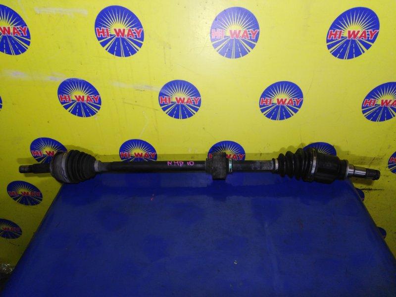 Привод Toyota Aqua NHP10 1NZ-FXE 2011 передний правый
