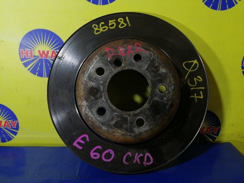 Диск тормозной Bmw 525I E60 M52B25 2003 задний левый