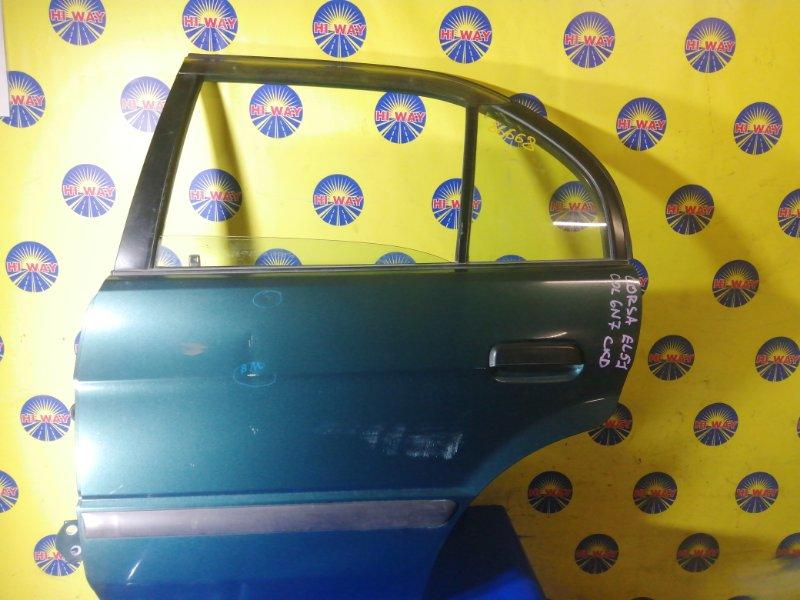 Дверь боковая Toyota Corsa EL51 4E-FE 1994 задняя левая