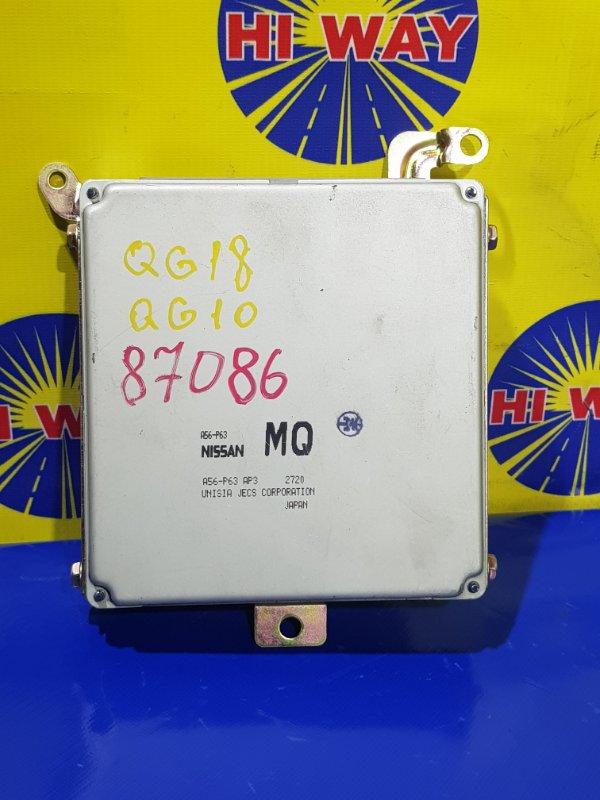 Блок управления двс,компьютер Nissan Blueberd Sylphy QG10 QG18DE 2000