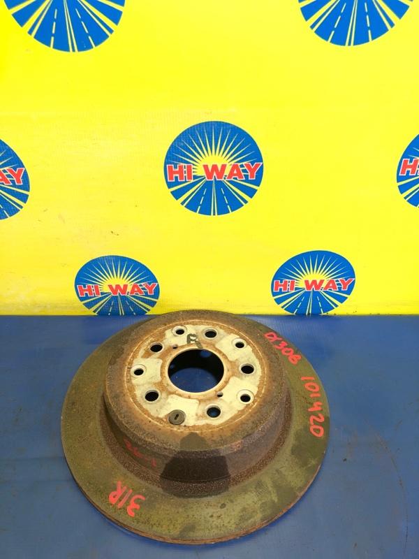 Диск тормозной Toyota Altezza JCE10 2JZ-GE 2001 задний