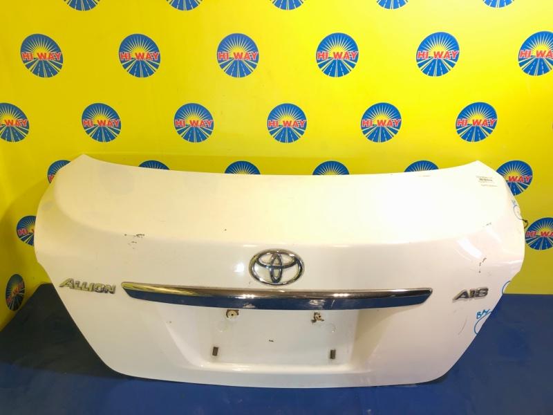 Крышка багажника Toyota Allion NZT260 2ZR-FE 06.2007