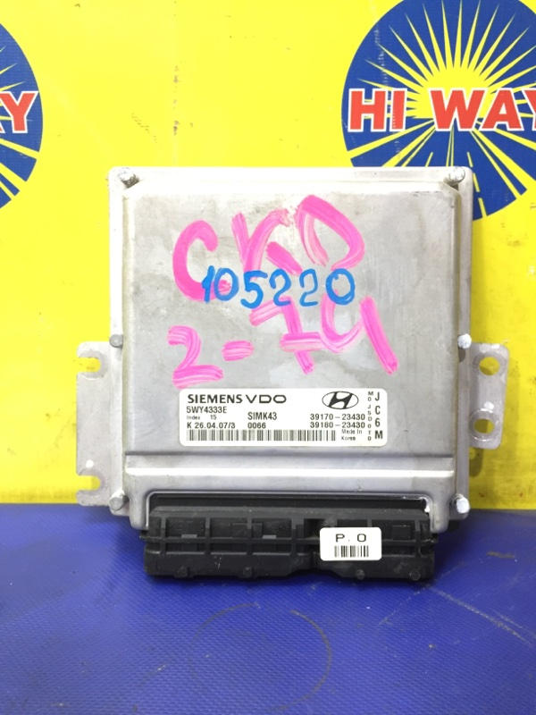 Блок управления двс Hyundai Tucson JM G4GC 2004