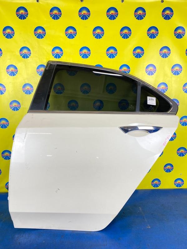Дверь боковая Acura Tsx CU2 K24A 2008 задняя левая