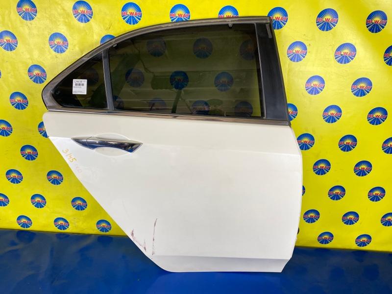 Дверь боковая Acura Tsx CU2 K24A 2008 задняя правая
