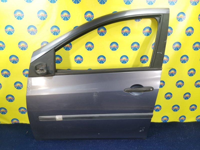 Дверь боковая Renault Clio BR0B K4M801 2005 передняя левая