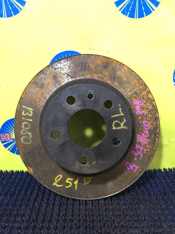 Диск тормозной Alfa Romeo 147 937 AR32310 2008 задний левый