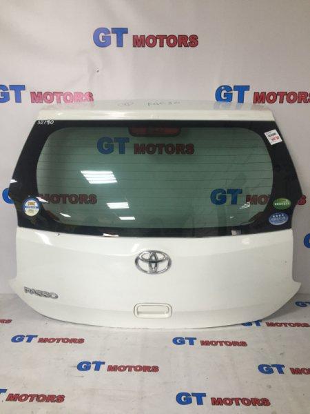 Дверь задняя багажника Toyota Passo KGC30 1KR-FE 2010