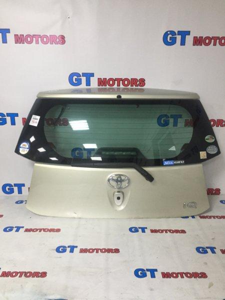Дверь задняя багажника Toyota Iq KGJ10 1KR-FE 2011