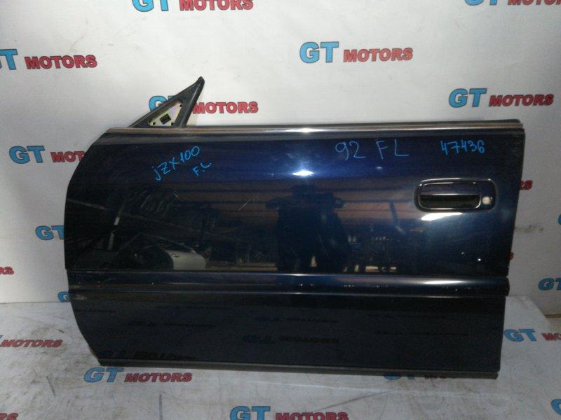 Дверь боковая Toyota Chaser JZX100 1JZ-GE 1997 передняя левая