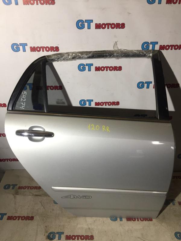 Дверь боковая Toyota Allex NZE124 1NZ-FE 2003 задняя правая