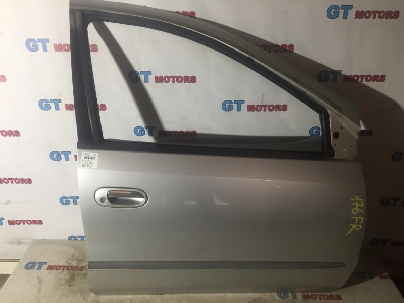 Дверь боковая Nissan Tino V10 QG18DE 1999 передняя правая