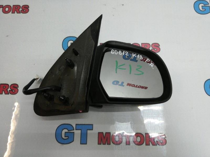 Зеркало боковое Nissan March K13 HR12DE 2012 переднее правое
