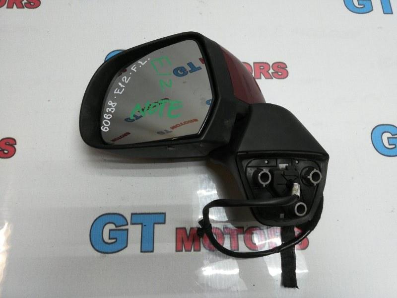 Зеркало боковое Nissan Note E12 HR12DE 2012 переднее левое