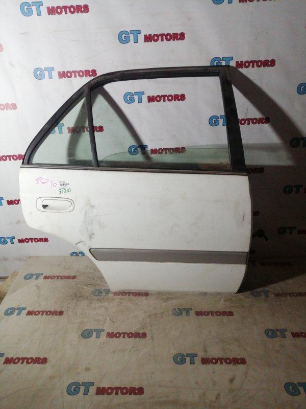 Дверь боковая Toyota Corona Premio ST210 3S-FSE 1999 задняя правая