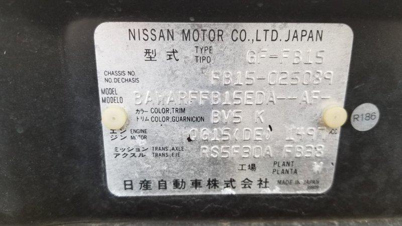 Мкпп Nissan Sunny FB15 QG15 1999