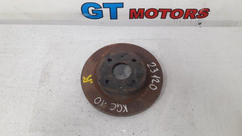 Диск тормозной Toyota Passo KGC10 1KR-FE передний правый