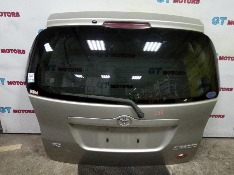 Дверь задняя багажника Toyota Corolla Spacio ZZE124N 1ZZ-FE 2003