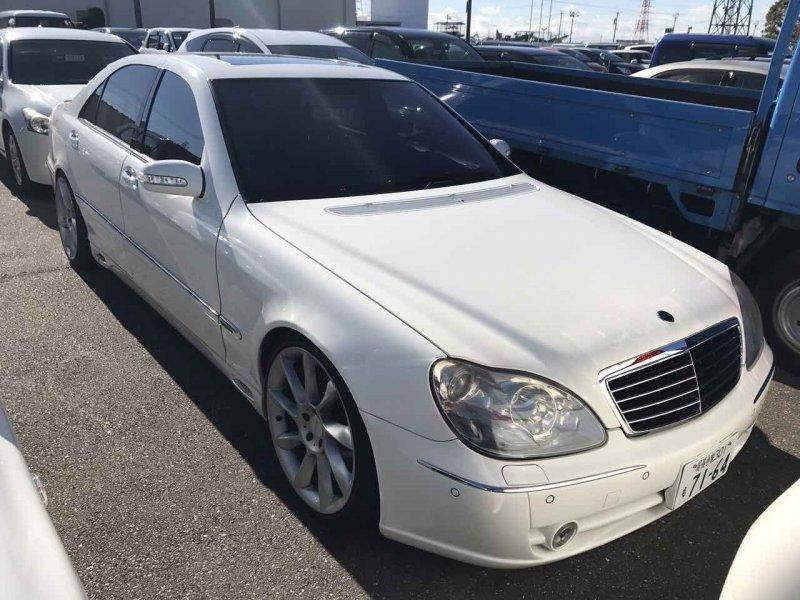 Авто на разбор Mercedes-Benz S500 220.175 113.960 1998 S500L Lorinser белый 17.05.2002г.в. Левый руль Пробег 112219