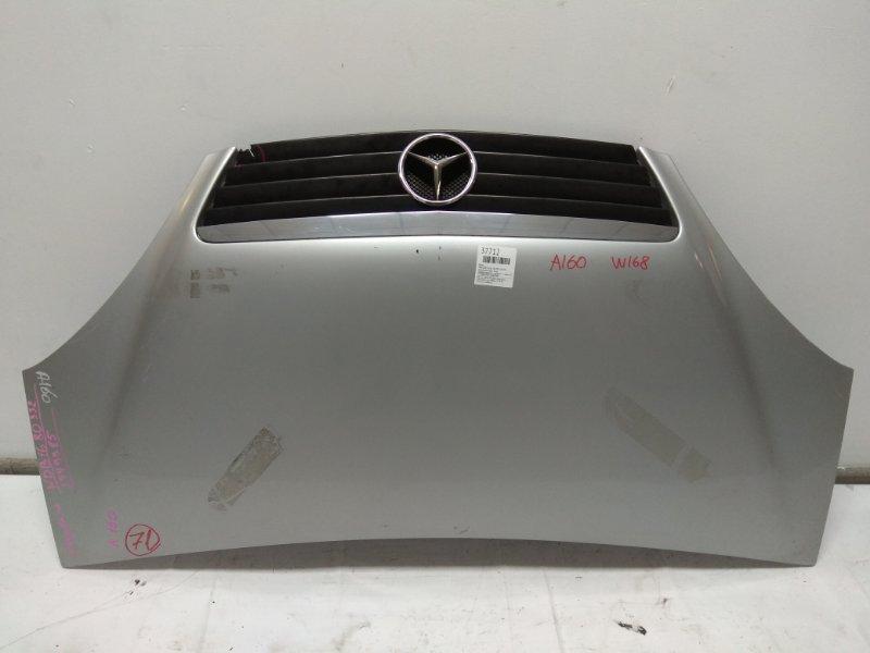 Капот Mercedes-Benz A160 168.033 166.960 А160 W168 2002г 2мод серебро+решетка - лопнула **** черн. к71 vin