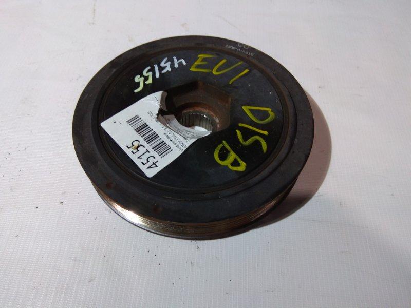 Шкив коленвала Honda Civic EU1 D15B 2000 58 т.км., посадочный диаметр 28 мм.