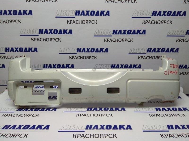 Бампер Suzuki Jimny JB23W K6A задний белый перл. под запаску, узкий (под 0,6 турбо)