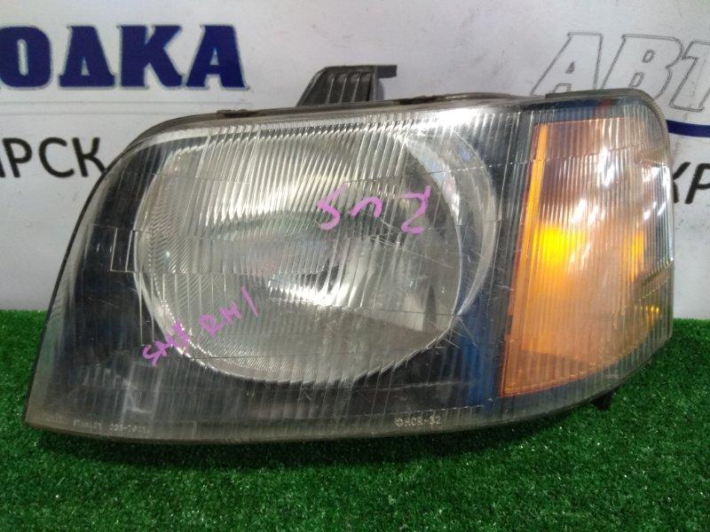 Фара Honda S-Mx RH1 передняя левая 033-7621 L 1 мод, оранжевый поворот, *лом уха под решетку