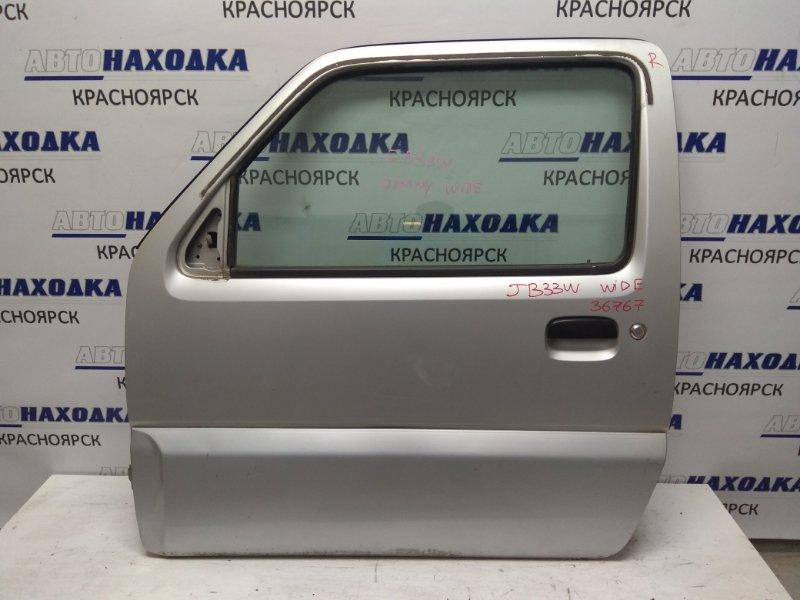 Дверь Suzuki Jimny Wide JB33W M13A левая к74 FL серебро WIDE (с пласт накладкой) - /БЕЗ внутренней