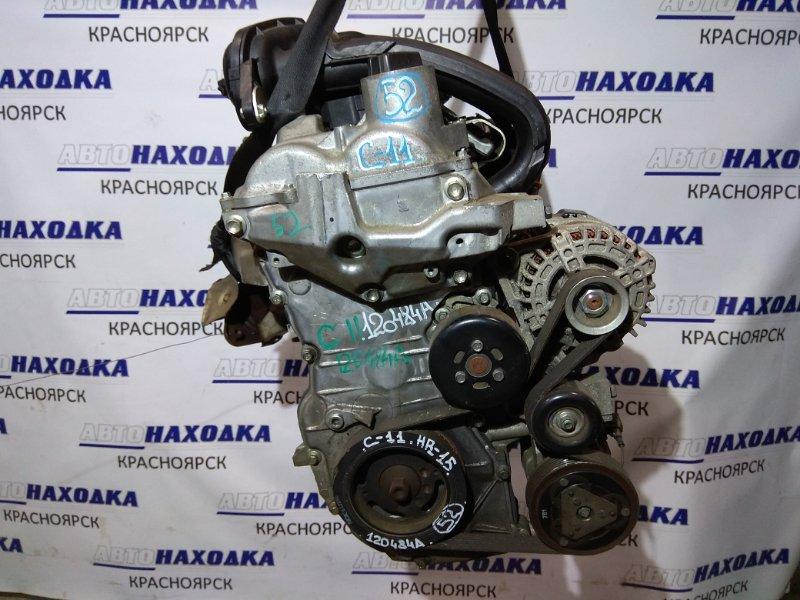 Двигатель Nissan Tiida C11 HR15DE 120484A 63т.км. колл-ра,дроссель,форсунки,шкив,генератор
