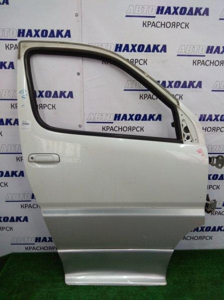 Дверь Toyota Granvia VCH10W передняя правая белый перл/серая/К66