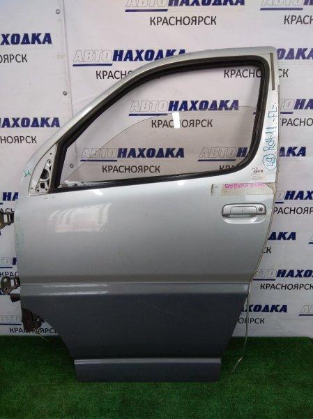 Дверь Toyota Granvia KCH10W передняя левая серебро, стекло-1,5 /своя/без кнопки на с/п