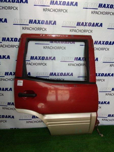 Дверь Nissan Mistral R20 TD27BT задняя правая бордо/низ серебро, б/стекла