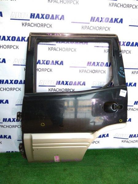 Дверь Nissan Mistral R20 задняя левая чёрная/серебро б/стекло б/ручки/вмятинки