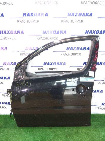 Дверь Daihatsu Yrv M201G K3-VE передняя левая черная без стекла, ручки, кнопки и стекл-ка/вмятины