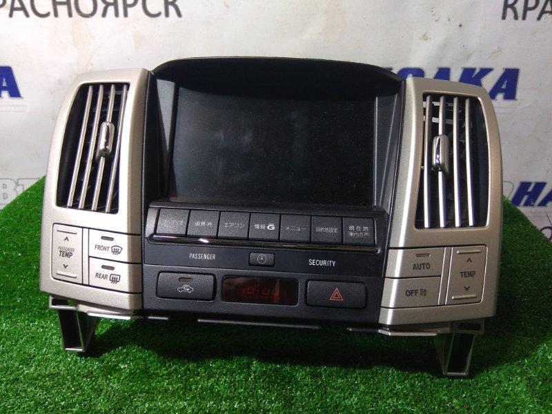 Телевизор в салон Toyota Harrier ACU35W 2AZ-FE 2003 86110-48310 монитор FUJITSU с навигацией с HDD, с