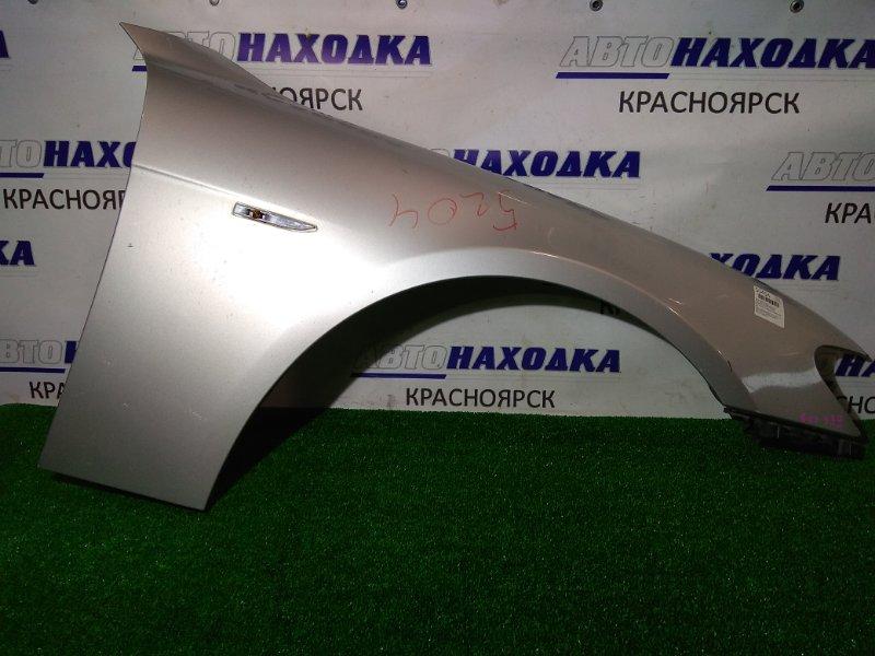Крыло Bmw 740I E65 N62 B40A 2005 переднее правое 41 35 7 138 474 FR с клипсой , 2 мод, алюминиевое, цвет 354
