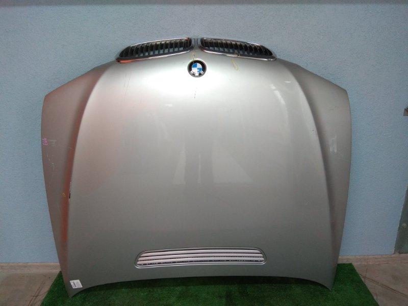 Капот Bmw 740I E65 N62 B40A 2005 41617200442 2 мод, c решеткой, есть царапины и маленькая вмятинка