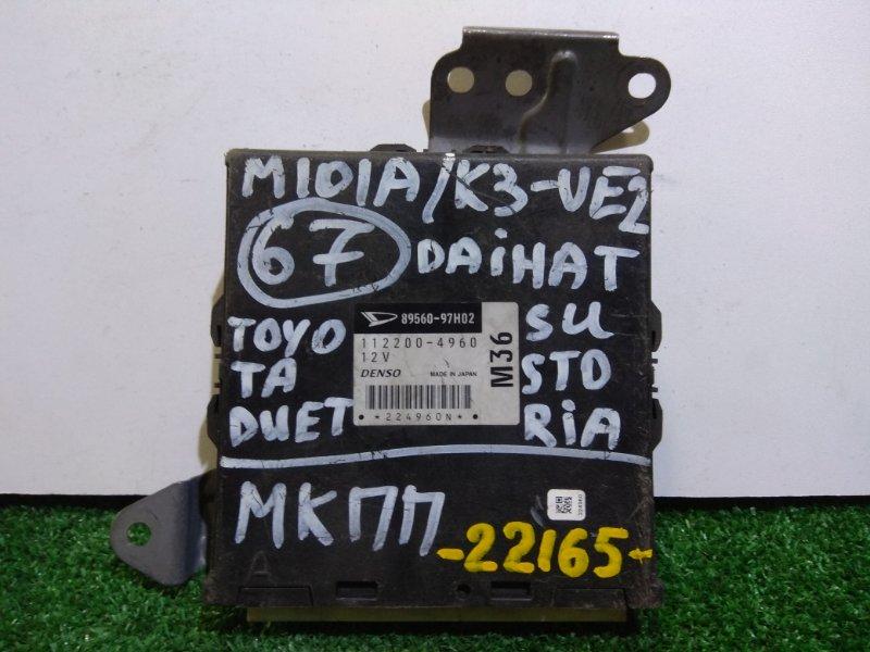 Компьютер Daihatsu Storia M101S K3-VE2 89560-97H02 02г.МКПП/К67