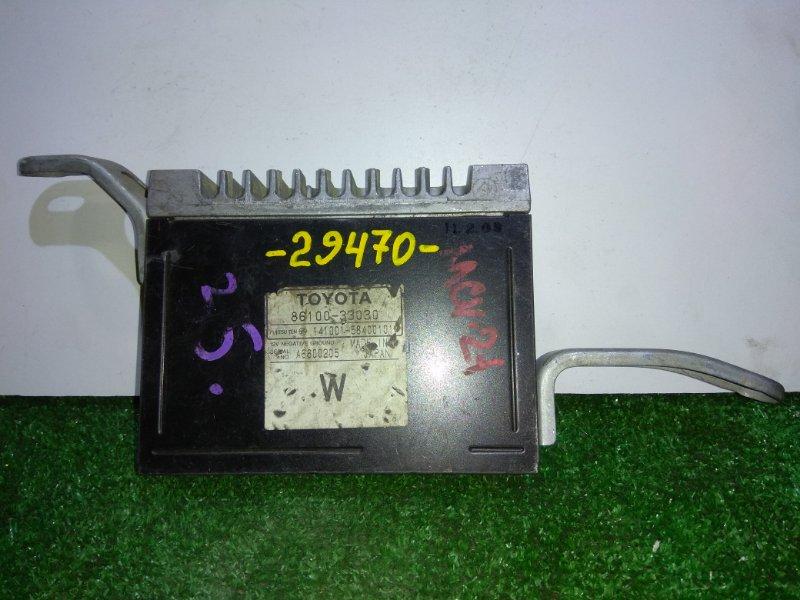 Компьютер Toyota Mark Ii Qualis MCV21W 86100-33030 штатный усилитель звука