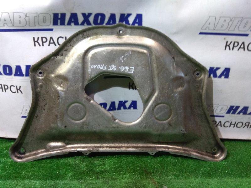 Защита двс Bmw 740I E65 N62 B40A 2005 передняя алюминиевая