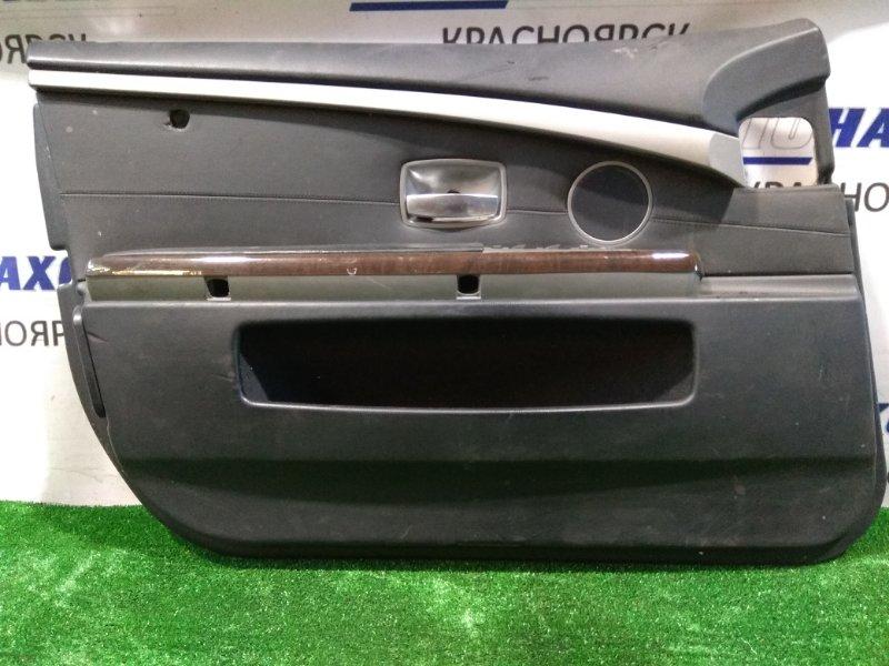 Обшивка двери Bmw 740I E65 N62 B40A 2005 комплект - 4 шт. с кнопками, (не лонг), рестайлинг, у FR на