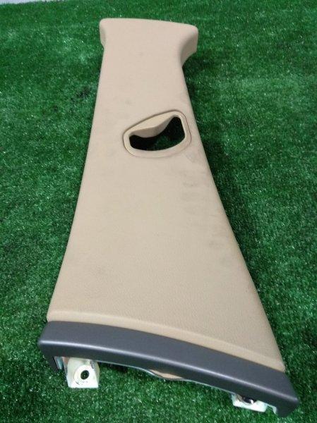 Обшивка стойки кузова Bmw 735I E65 N62 B36A 2001 левая верхняя 51437001979 L верхняя на среднюю стойку с
