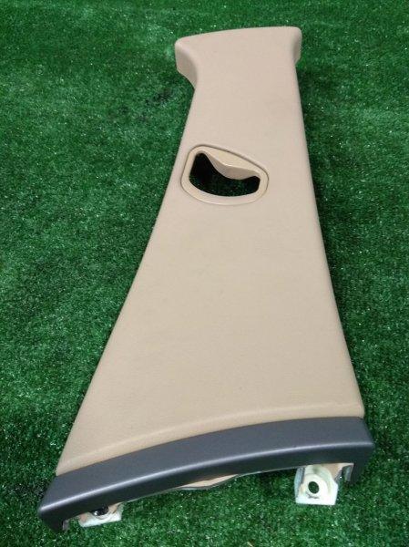 Обшивка стойки кузова Bmw 735I E65 N62 B36A 2001 правая верхняя 51437001980 R верхняя на среднюю стойку