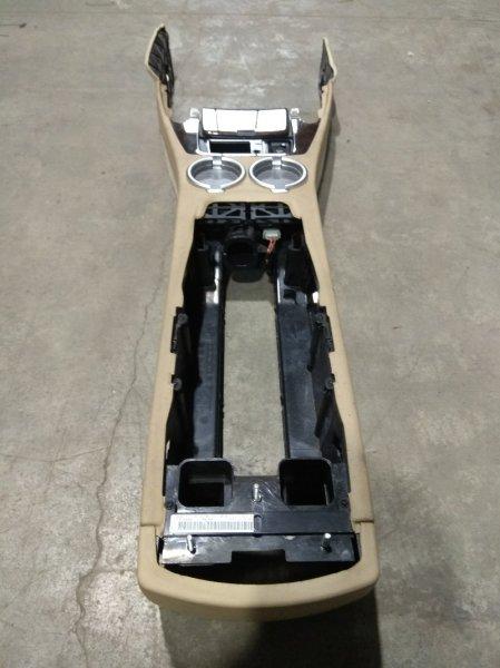 Подлокотник Bmw 735I E65 N62 B36A 2001 центрального тоннеля с подстаканниками, пепельницей,